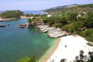 about thassos christin apartments sandy beach